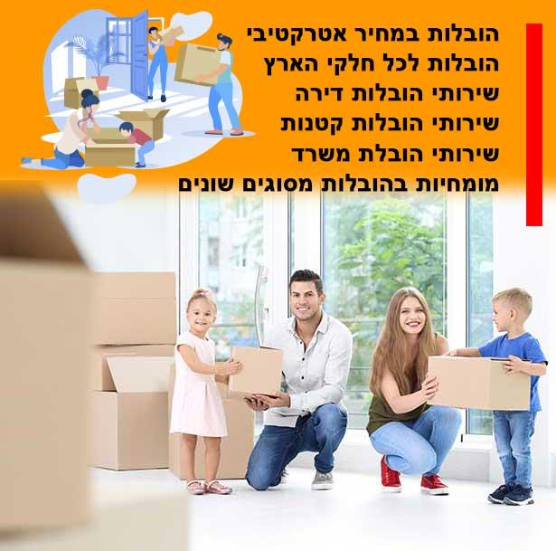 מהו התעריף של הובלת דירה בעיר פדואל, המחיר שלנו